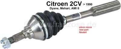 Citroen-2CV Antriebswelle 2CV6 radseitig. Passend für Citroen 2CV6 bis Baujahr 1990. Neuteil! Nachfert