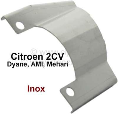 Citroen-2CV 2CV6, Abschirmblech am Auspuff (einfacher Nachbau), für den Schutz des Handbremsseil. Pass