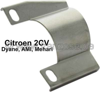 Citroen-2CV 2CV6, Abschirmblech am Auspuff, für den Schutz des Handbremskabel. Passend für Citroen 2CV