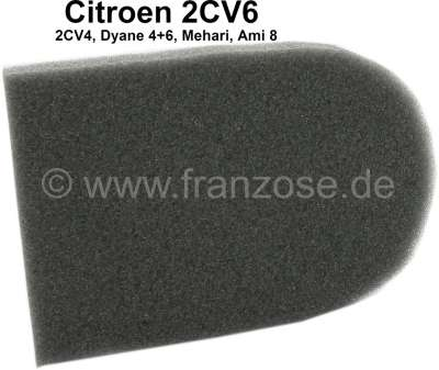 Citroen-2CV 2CV6, Wäremtauscher (Heizbirne), Schaumstoffplatte für die Klappe des Wärmetauschers. Per