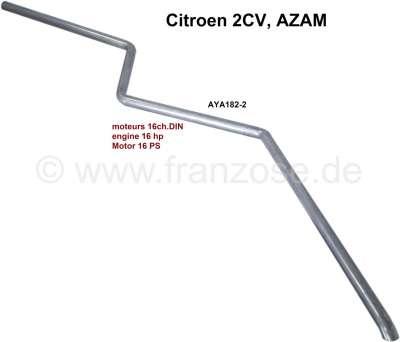 Citroen-2CV 2CV alt, Endrohr für rechts montierte Auspuffanlagen. Passend für Citroen 2CV 16PS, 2CV AZ