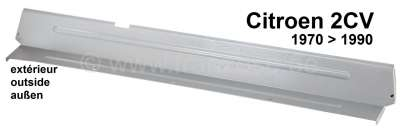Citroen-2CV 2CV, Pedalbodenblech außen, wie Original (mit Sicken). Elektrolytisch verzinkt. Passend fü