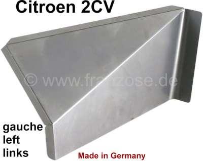 Citroen-2CV 2CV, Sitzbankkastenecke hinten links. Passend für Citroen 2CV. Das ist das schräge Eckblec