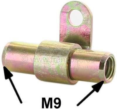 Citroen-2CV Bremsleitung + Hydraulikleitungsverbinder, 2 Wege, mit Blechlasche zum Anschrauben. Für Le