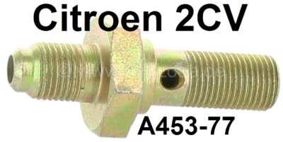 Citroen-2CV Bremsleitung Verschraubung auf den Bremsschlauch, hinten links + vorne rechts. Passend für