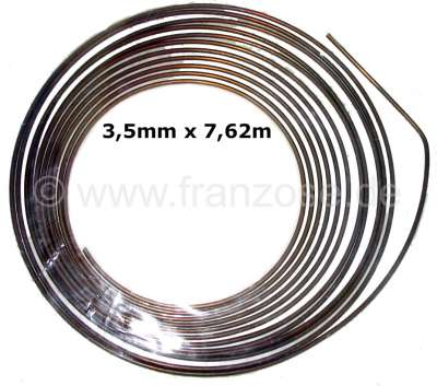 Citroen-2CV Brems + Hydraulikleitung. Durchmesser: 3,5mm. Länge: 7,62m. Material: Kunifer (Kupfer - Ni