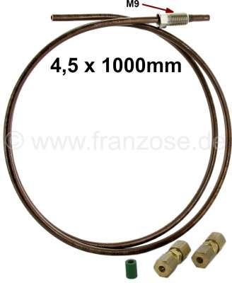 Citroen-2CV Brems + Hydraulikleitung (4,5mm) Not Reparatursatz. Bestehend aus: 1 Meter Kunifer (Kupfer