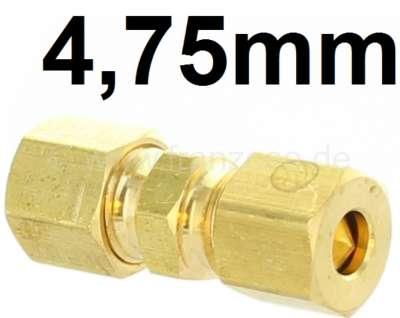 Citroen-2CV Bremsleitung + Hydraulikleitungsverbinder, für Leitungen mit 4,75mm Durchmesser. Passend f