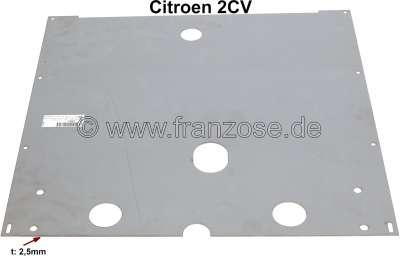 Citroen-2CV Blech unter dem Motor (Motor Schutzplatte), für das original Chassis vom Citroen 2CV. Dies