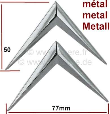 Citroen-DS-11CV-HY Citroenwinkel verchromt, aus Metall. Universal passend. 2x Winkel = 1x 16807!! Nachbau