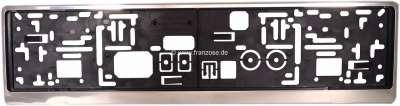 Citroen-DS-11CV-HY Kennzeichenhalter Kunststoff mit Edelstahlcoverrahmen. Passend für alle Kennzeichen mit 52