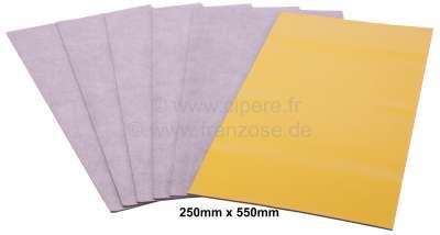 Citroen-2CV Bitumenmatten (Antidröhnplatten) selbstklebend, 6 Platten. 550 x 250mm. Universal passend.