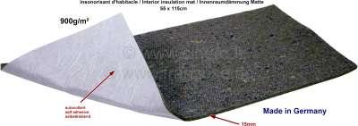 Citroen-2CV Innenraumdämmung Matte (ca. 15mm dick), selbstklebend, optisch wie aus den Jahren 60iger b