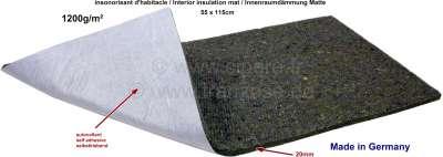 Citroen-2CV Innenraumdämmung Matte (ca. 20mm dick), selbstklebend, optisch wie aus den Jahren 60iger b