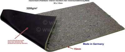 Citroen-2CV Innenraumdämmung Matte für den Boden (ca. 15mm dick), optisch wie aus den Jahren 60iger bi