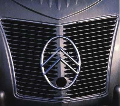 Citroen-2CV 2CV alt, Kühlergrill, Citroen-Emblem aus Aluguß (nur das Emblem). Passend für Citroen 2CV