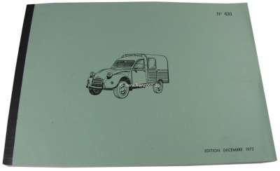 Citroen-2CV Ersatzteilkatalog für Citroen AK + AZU. Für die Modelle von 1971 - 1975