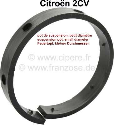 Citroen-2CV Reibbelag im Federtopf (kleiner Federtopf). Ohne Metallteller. Material: Kunststoff. Der R
