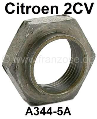 Citroen-2CV Mutter vorne für die Vorgelegeachse (Welle), im Getriebe. Passend für Citroen 2CV4+6.