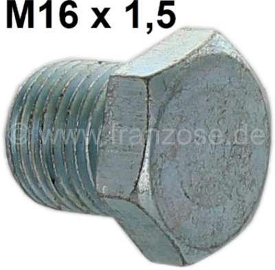 Citroen-2CV Getriebe Ölschraube + Einfüllschraube. Gewinde M16. Passend für Citroen 2CV.