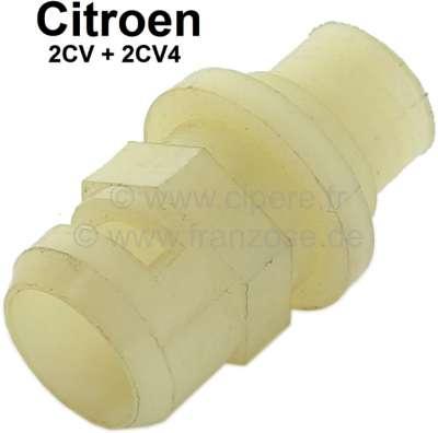 Citroen-2CV Tachowellenbuchse (Führung Tachowelle) im Getriebe, passend  für 2CV alt + 2CV4. Nachbau.