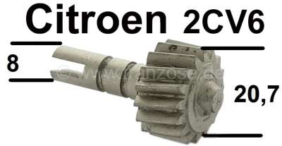 Citroen-2CV Tachowellenritzel im Getriebe. 16 Zähne! Passend für Citroen 2CV6. Das Ritzel hat einen Au