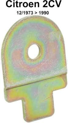 Citroen-2CV Halteblechlasche für die Plastikführung (16063) der Handbremse. Passend für Citroen 2CV ab
