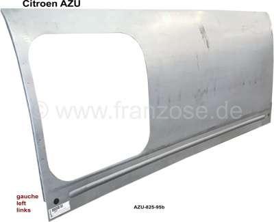 Citroen-2CV AZU, Seitenteil links (Kastenaufbau), für 1 Fenster. Passend für Citoen AZU. Nachfertigung