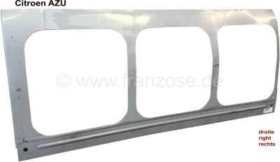 Citroen-2CV AZU, Seitenteil links (Kastenaufbau), für 3 Fenster. Passend für Citoen AZU. Nachfertigung