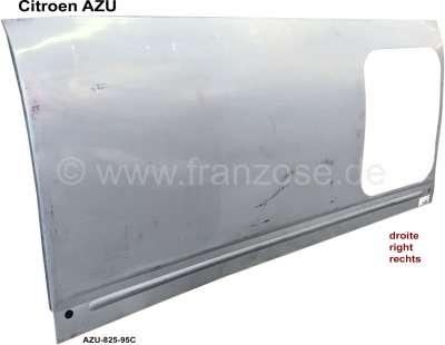Citroen-2CV AZU, Seitenteil rechts (Kastenaufbau), für 1 Fenster. Passend für Citoen AZU. Nachfertigun