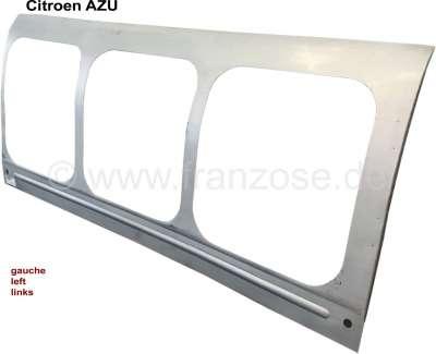 Citroen-2CV AZU, Seitenteil rechts (Kastenaufbau), für 3 Fenster. Passend für Citoen AZU. Nachfertigun