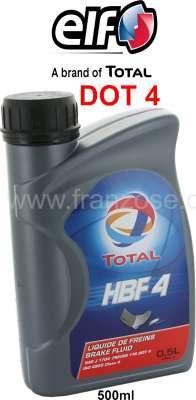Citroen-2CV Bremsflüssigkeit DOT4. 1/2 Liter. Hersteller TOTAL. Passend für alle Citroen 2CV bis Bauja