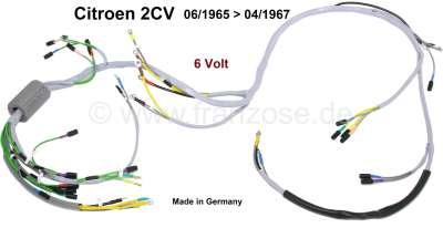 Citroen-2CV Hauptkabelbaum für Citroen 2CV. Verbaut von Baujahr 06/1965 bis 04/1967. 6 Volt Technik. M