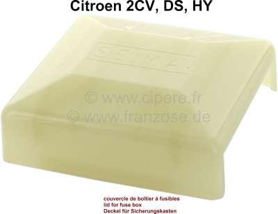 Citroen-2CV Sicherungskasten Deckel (nur der Deckel). Für Sicherungskasten