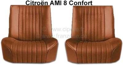 Citroen-2CV AMI 8, Sitzbezug AMI8 Comfort vorne + hinten. Passend für 2 Einzelsitze vorne  + 1x Sitzba
