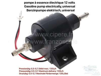 Citroen-2CV Benzinpumpe elektrisch, universal einsetzbar, nur für Vergasermotoren! 12 Volt. Diese Pump