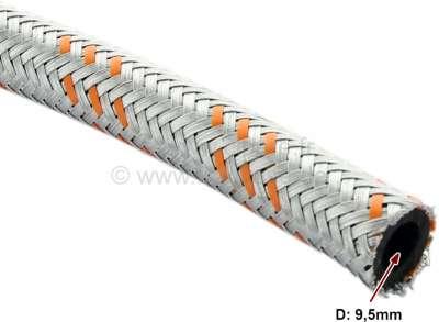 Citroen-2CV Benzinschlauch metallummantelt. Innendurchmesser: 9,5mm, Aussendurchmesser: 15,0mm. Per Me