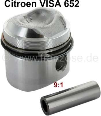 Citroen-2CV Kolben, für Citroen VISA 652. (2 Zylinder Boxer). Per Stück. Verdichtung 9:1.