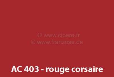 Citroen-DS-11CV-HY Lack 1000ml / AC 403 / 7/67-2/70 Rouge Corsaire, bitte mit dem Härter 20444 mischen,  2 Te