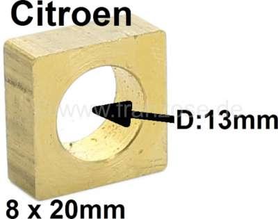 Citroen-2CV Spurstangen Gleitstein viereckig, montiert im Lenkgetriebe. Passend für Citroen 2CV. Nachf