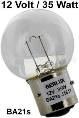Citroen-2CV Glühlampe 12 Volt, 35 Watt, klar, Sockel mit 3 Stiften, Ba21s.