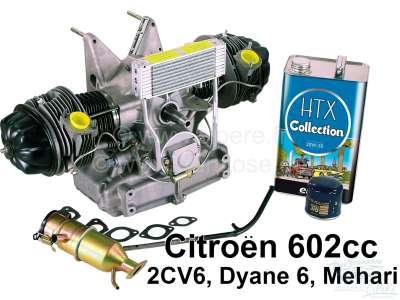 Citroen-2CV Motor für Citroen 2CV6, im Austausch. Ohne Kontaktdose! Incl. neuen Öleinfüllstutzen, Dich