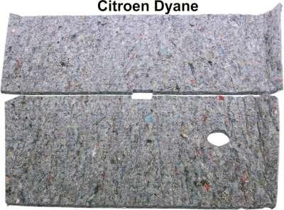 Citroen-2CV Dyane, Motorhauben Dämmmatte, aus Filz. Passend für Citroen Dyane.