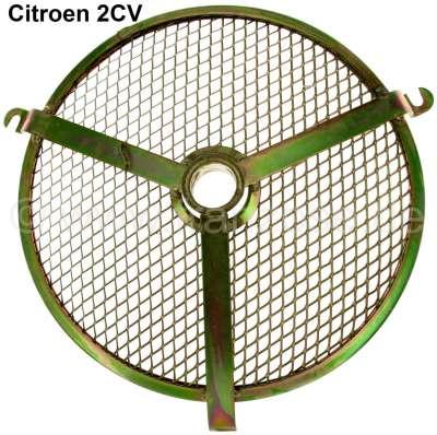 Citroen-2CV Gitter für das Motorlüftergehäuse. Passend für Citroen 2CV. Nachbau. Das Gitter ist verzin