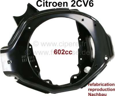 Citroen-2CV Motorlüftergehäuse (für Scheibenbremse). Passend für Citroen 2CV6, Dyane, AK, Mehari. Nach