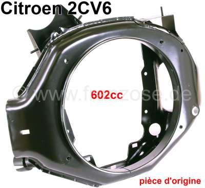 Citroen-2CV Motorlüftergehäuse (für Scheibenbremse). Passend für Citroen 2CV6, Dyane, AK, Mehari. Orig