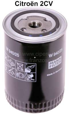 Citroen-2CV Ölfilter groß, für Ölfilteradapter 2CV. (Für Artikel 10006 = Sommerpatrone).