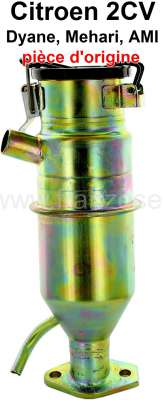 Citroen-2CV Öleinfüllstutzen für 2CV6. (beinhaltet die Kurbelhausentlüftung). Original Citroen, kein N