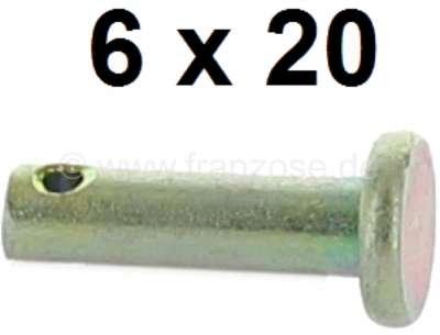 Citroen-2CV Bolzen, für die Verbindung der Kupplungszuggabel an die Pedalerie, und für den Handbremshe