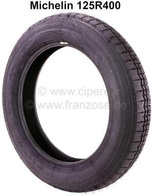 Citroen-2CV Reifen 125R400, Hersteller Michelin. Passend für Citroen 2CV aus den fünfziger Jahren.
